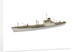 A waterline model of a cargo vessel by Reginald Carpenter