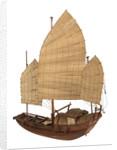 A model of a cargo vessel; Junk, Upper Yangtze by unknown