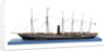 Ship model of the passenger/cargo vessel SS 'Great Britain' (1843) by Bassett-Lowke Ltd