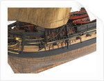 Model of a warship (1805), Frigate, 38 guns by unknown
