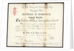 Certificate of Competency for First mate, Frederick William Cunningham Everett by unknown