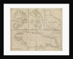 Chart of Jamaica, Barbados, St Christopher, Martinique, Antigua and Bermuda by John Seller