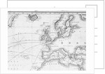 A general chart for the purpose of pricking off ship's track from England southward and round the world (detail) by J.S. Hobbs