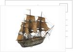 'Argonaute'; warship; 74 guns by William Haines