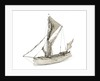 A full hull model of a Thames sailing barge by
