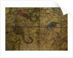 Celestial table globe, detail of Scorpio & Sagittarius by Isaac Habrecht II
