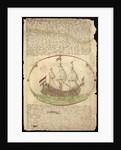 Dutch vessel 'Burff van Linden' under way, from the Barlow Journal by Edward Barlow