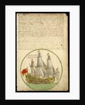 The 'Cadiz Merchant' under way, 1682 by Edward Barlow