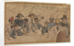 Officers of H.M. Brigantine 'Bonetta' on board a hulk by British School