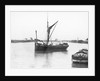 The 'Olive May' (1920), a port bow view of the barge stopped with sails furled by Anonymous