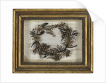 Wreath made from hair by Emma Hamilton