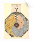 Volvelle to show how to find the time, in hours and minutes, in which the Moon reaches one of its aspects. The disc is fixed and is read by a wire in the centre by Peter Apian