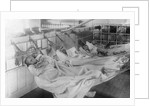 Photographic print of the crew of 'Vivid' (1891) in hammocks by unknown