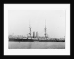 A port broadside view of HMS Ocean in 1900, Richard Perkins collection by Perkins