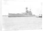 HMS 'Tiger' (1913), battlecruiser, a port bow view by unknown
