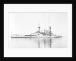 Photograph of battlecruiser HMS 'Repulse' (1916), a starboard quarter view, circa 1939 by unknown