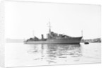 Destroyer HMS 'Matabele' (1937), moored in the Hamoaze near the Torpoint Ferry by Anonymous