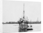 Torpedo gunboat HMS 'Plassey' (1890) anchored at Sheerness by unknown