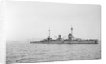 Moltke 65' (1910) German battlecruiser at anchor at Scapa Flow by unknown