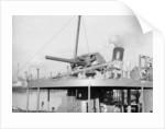 Whale catcher HMS 'Windermere' (1939), detail of gun platform by unknown