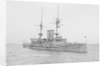 Battleship HMS 'Goliath' (1898) at anchor by unknown