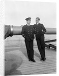Sub Lieutenant Charles R Brent and Clerk Richard R Wallace on HMS 'Aurora' (1913) by Lieutenant Geoffroy William Winsmore Hooper
