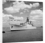 HMS 'Ulysses' (1943) at moorings off Harwich by Anonymous