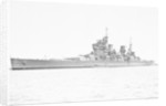 HMS 'King George V' (Br, 1939), at anchor, probably at Scapa Flow. with type 271 radar fitted by unknown
