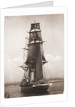 A port view of 'Nautilus' bearing up to her anchorage in Plymouth Sound 1895-1905 by unknown