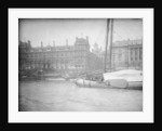 View from the Thames just east of Blackfriars Bridge, looking north towards the river frontage of Billingsgate Market (on left) and the Custom House (on right), 1907 by unknown