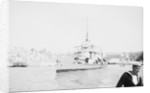 Aphis (1915) anchored in Grand Harbour, Malta, near St. Angelo by unknown