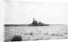 Photograph of HMS 'Iron Duke' (1912) in October 1940 ashore at Longhope, Scapa Flow. In use as base and accommodation ship by unknown