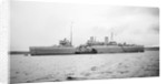 Submarine depot ship HMS 'Maidstone' (1937), at moorings off Lyness, Scapa Flow by unknown