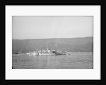 Photograph of vessel 'RML539' (1942) a starboard side view, taken from just abaft the beam, of the vessel at moorings in Holy Loch in 1945 with four other rescue launches in the same line by unknown