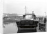 HMS 'Scimitar' (1969), fast training boat, alongside in the fitting out basin at Vosper's Portchester shipyard by unknown