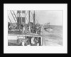 Deck and lifeboat view aboard cargo liner 'Craftsman' (Br, 1897), Charente S S Co Ltd by unknown