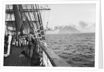 Land on the Horizon - Ailsa Craig on starboard and the 'Grace Harwar' is towed from Queenstown by Alan Villiers