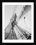 Apprentices on the bowsprit by Alan Villiers