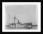 The Japanese cruiser 'Hashidate' (1891) at anchor by Kenneth Hurlstone Jones