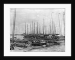 Junks and sampans near the French Concession, Shanghai by Kenneth Hurlstone Jones