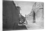 Kuwait street with an ornate doorwary details by Alan Villiers