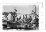 Jalboot crew drifting across a pearl bank by Alan Villiers