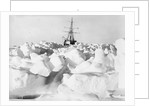 A distant bow view of 'Endurance' (1912) frozen into the ice floe, Weddell Sea, Antarctica by unknown