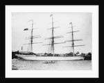 Photograph of 'Astracana' (1874) at quayside, Port Adelaide. Additional painted flags added by unknown