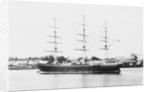 3 masted ship 'Blackadder' (Br, 1870), J Willis & Son, at moorings in Brisbane, Australia by unknown