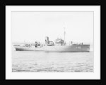 Flower-class corvette, HMS 'Lavender', off Aberdeen Beach by unknown