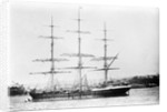 Photograph of 'Pericles' (1877) at moorings by unknown