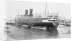 'Ranchi' (Br, 1925), at moorings, Port Said by unknown