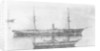 'Rhone' (Br, 1865), passenger/cargo liner, at anchor by unknown