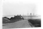 A view looking over the foreshore of Shotley Gate across the River Stour towards Harwich with the Bristol Arms on the left and the 'Ganges' training ships by Smiths Suitall Ltd.